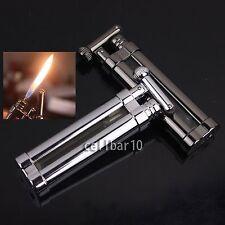 New Mini Cigarette Cigar Smoking Pipe Lighter W/Cylinder Flint Wheel Portable