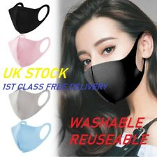 Face Mask Washable UK Reusable Cotton Breathable High Quality Masks Shield Cover