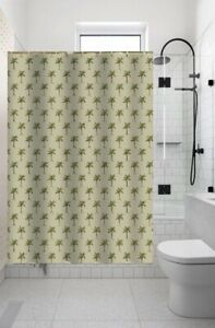 Bathroom Shower curtain Set & Fabric covered rings 13PC PALM TREE New