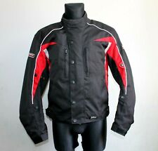Vintage POLO Firefox Klima Motorcycle Black Red Moto Biker Jacket Mens Size M