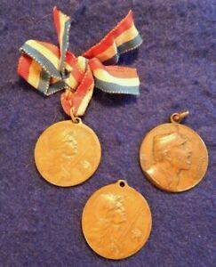 WWI French Army, WW1 French Military Medals, (2), VERDUN 1916 & WWI Medallion