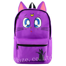 Anime Sailor Moon Luna Chat Violet Sac à dos École Sac