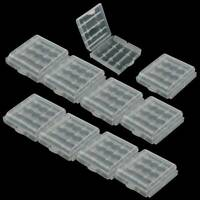 10x Plastic Case Holder Storage Box Cover Clear for Rechargeable AA AAA Battery
