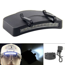 Waterproof Rechargeable 11 LED Cap Hat Clip on Flashlight Torch Lamp + Charger