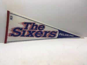 Philadelphia 76ers Sixers vintage 1990s Collectible Basketball Pennant NBA