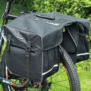 NEW Cycling Bicycle Rear Seat Pannier Rack Bike Bag Luggage Bag Double Bike Bag
