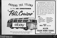"""Allen Trade Wind Tours """"Pali Cruiser"""" Glass Topped Around Oahu All Day Tour Ad"""
