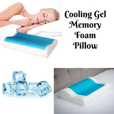 Memory Foam Contour Pillow Cool Gel Pad Orthopedic Neck Back Pain Relief Support