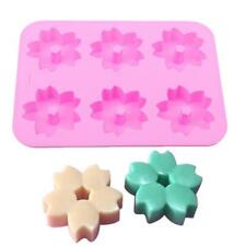 3D Cherry blossoms Silicone Oven Handmade Soap Mold Molds Food Grade S3