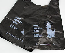 500 x Biodegradable Dog Poo Bags (Dog Poop Bag/Waste Bags) - Black Tie Handle