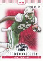 2007 Topps Triple Threads Football #72 Jerricho Cotchery 0888/1449 New York Jets
