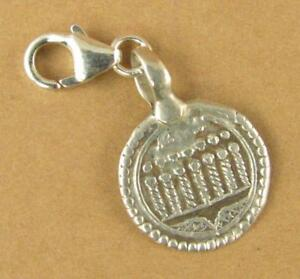 Old antique silver clip-on charm. Indian tribal patri protection amulet. 925.