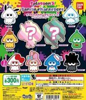 Splatoon 2 × Sanrio Special Rubber Mascot 2 Complete 10 set  Nintendo Japan