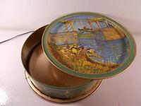 "Vintage Sunshine Biscuit Tin with Vincent Van Gogh Pictures 13-1/2"""