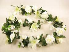 Artificial Flowers Cream Lily w/ Lace Satin Rose Hydrangea Garland Wedding Vine