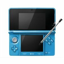 Exc Nintendo 3DS Light Blue System Console Body Adapter Only Japan ver Japanese