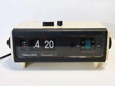 VINTAGE Realistic Chronomatic-111 Flip Clock AM/FM Alarm Clock Radio WORKS GREAT