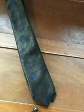 Vintage Forte Olive Green with Purple Blue & Cranberry Planets Polyester & Silk
