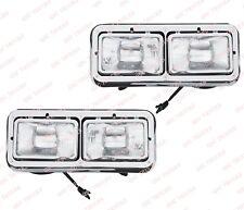 QSC Chrome Headlight Assembly Left Right Set for Kenworth T400 Peterbilt 378 379