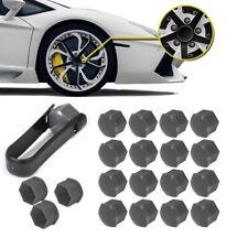 20pcs Wheel Lug Nut Bolt Center Cover Gray Caps & Tool for VW Audi Skoda 17mm