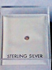 STERLING SILVER BOXED NOSE STUD with 1mm.IREDESCENT SWAROVSKI CRYSTAL £2.95 NWT