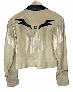 Pioneer Wear XL Womens Leather Western Fringe Jacket *READ*