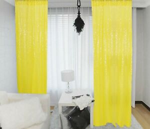 Sequin Curtain 2 Panel 2FTx8FT Sequin Backdrop Curtains Fabric Wedding Backdrop