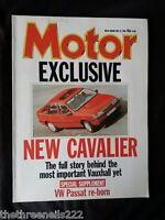 MOTOR MAGAZINE - VAUXHALL CAVALIER - MAY 21 1988