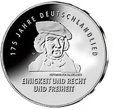 "2016 Germany 20 Euro Silver UNC Coin ""Song of Germany National Anthem 175 Yrs"""