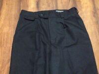 Mens Tilley Endurables Black Dress Style Pants Pleated Sz 32