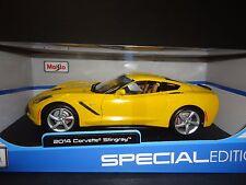 Maisto Chevrolet Corvette C7 Stingray 2014 Yellow 1/18