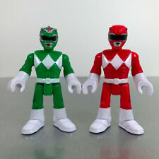 Imaginext Power Rangers RED & GREEN RANGER figures