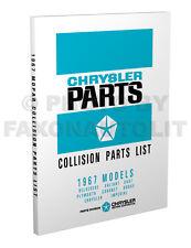 1967 Dodge Body Parts Book Charger Coronet Dart Monaco Polara Collision Catalog