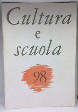 CULTURA E SCUOLA 98 AD243
