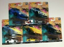 5 Car Set * 2019 Hot Wheels STREET TUNERS Car Culture Case L w/ Pandem * ZE7