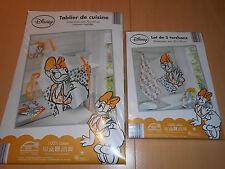 lot cuisine disney DAISY tablier + 3 torchons 100% coton - neuf