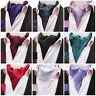 Cravat Ascot Tie Silk Purple Black Pink Red Blue Green White Paisley 100% Silk