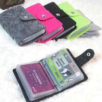 Vintage Women's Men's ID Credit Card Button Case Holder Wallet Organizer Gi