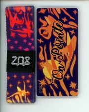 Medium ZOX Silver Strap ON POINTE Wristband with Card Reversible