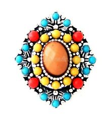 Orange Red Blue Yellow Beaded 20mm Snap Charm For Ginger Snaps Magnolia Vine