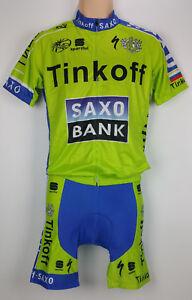 NEW Jersey Shirt & Shorts Set TINKOFF SAXO Full Zip Size Large Bike Cycling