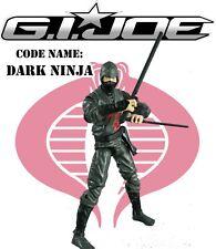 GI JOE Retaliation Cobra Dark Ninja Viper figure 2013 Black Dragon Clan Ninja Ku