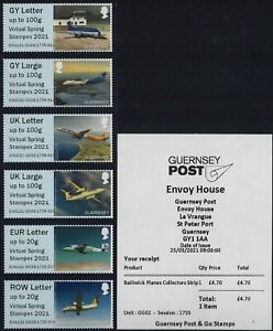 POST & GO MINT 2021 2020 2019 GUERNSEY PLANES FISHING BOATS JERSEY FLOWERS ETC