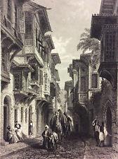 Egypte vue du Caire Gravure orientaliste anonyme 1850 Revue L'Artiste
