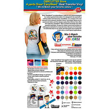 GERCUTTER STORE - 4 YARDS SISER EASYWEED HEAT TRANSFER VINYL-MIX & MATCH COLORS