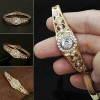 Frauen arbeiten Kristallarmband eingelegte Rhinestone-Armband-Geschenke Sch Q3V7