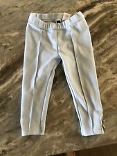 Janie And Jack Baby Toddler Girl 18-24 Months Sky Blue 2 White Button Leggings