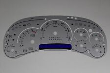 06 CUSTOM SILVER CADILLAC ESCALADE TYPE INSTRUMENT CLUSTER GAUGE FACE INLAY ONLY