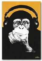 Steez Monkey DJ QUALITY Canvas Art Print pop Poster ART - orange