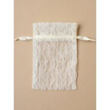 NEW 12 Cream lace favour bags wedding party confectionary 15x11cm